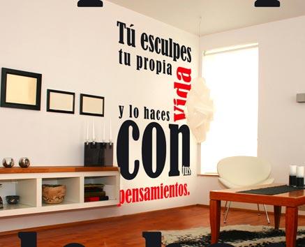 Dale vida a tu hogar decora tus paredes ja constructores - Paredes decoradas con vinilos ...