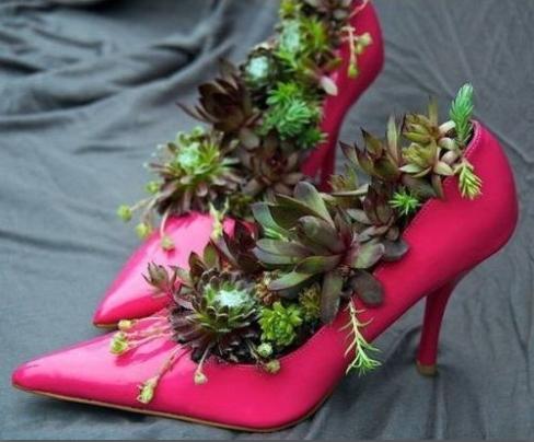 zapato y flor