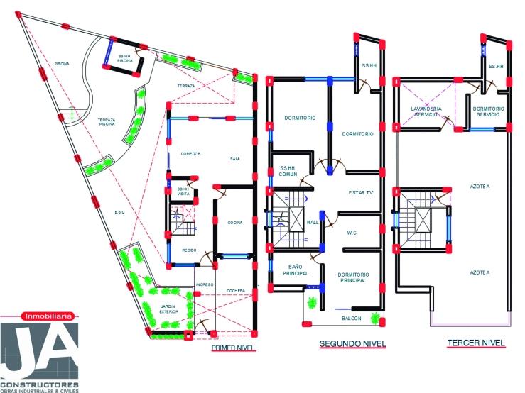 casa dos pisos_azotea_jaconstructores