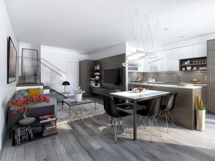 cocina-abierta-salon-moderno-lampara-interesante