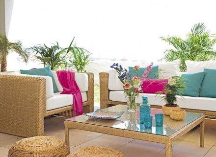 Mantenimiento de los muebles de fibra natural ja for Decoracion de la pared de la terraza