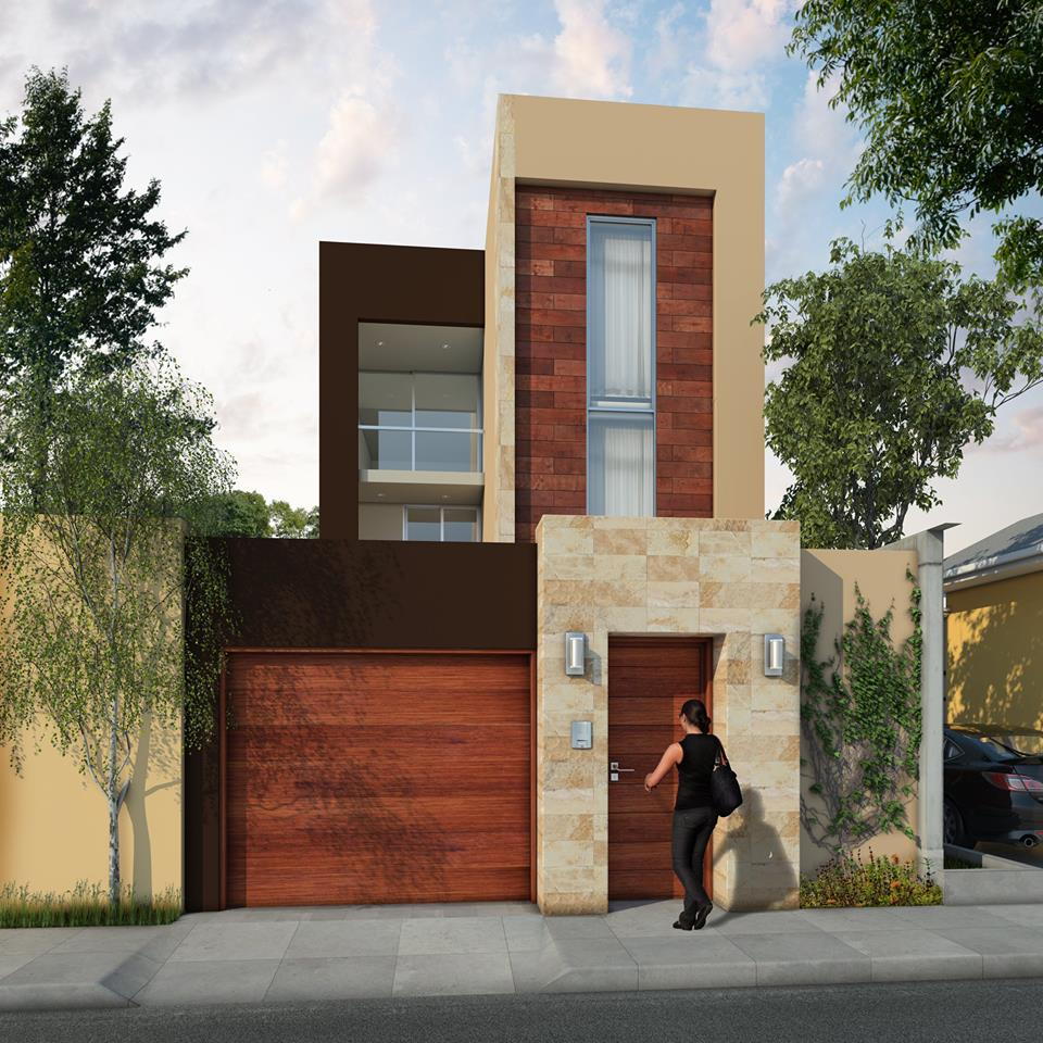 Vivienda de 120 m2 con 4 dormitorios y 3 pisos ja for Disenos de casas 120 m2