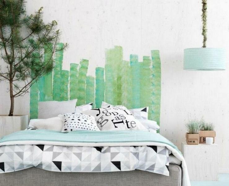 decoracion-cabecero-pintura-verde