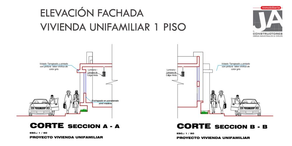 ELEVACION FACHADA 1 PISO_JACONSTRUCTORES