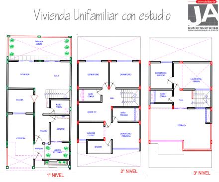 plano ja constructores_casa tres pisos1