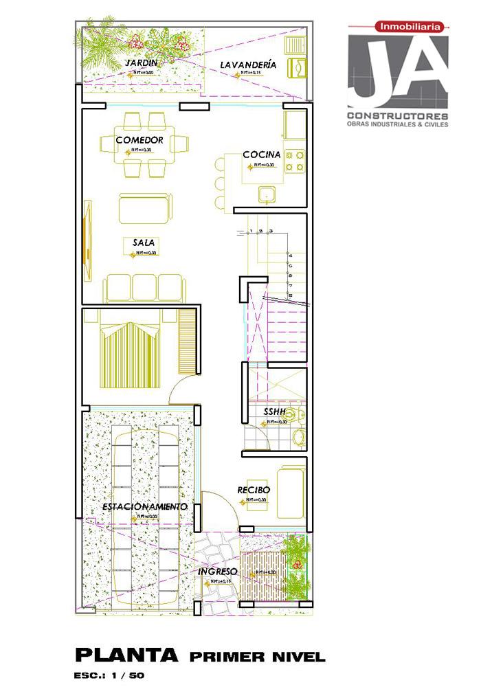 Como disear una casa de 6x15 mts de terreno casa en 2018 for Casa moderna 90m2