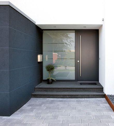 Puertas principales ja constructores for Vidrios para puertas principales