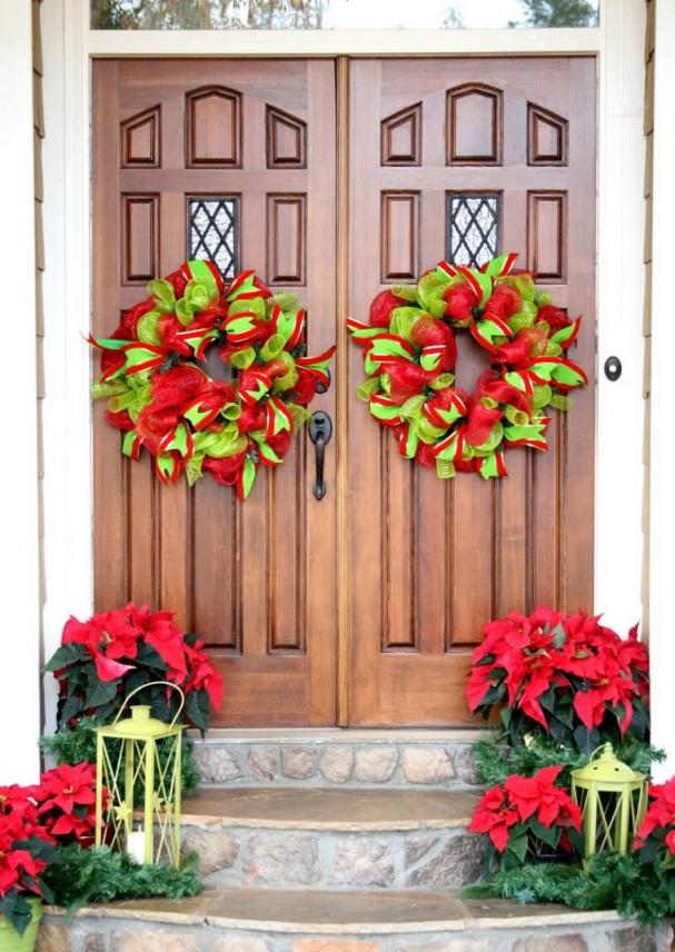 decorar-puertas-navidad-diseno-adornos